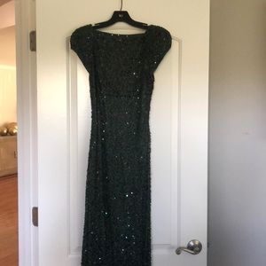 ABS open back sequin gown